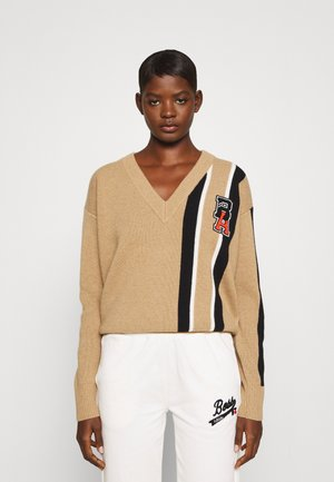 Boss x Russell Athletic FOUFFIS - Jumper - raw camel