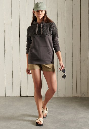 BOHEMIAN CRAFTED  - Hoodie - washed black