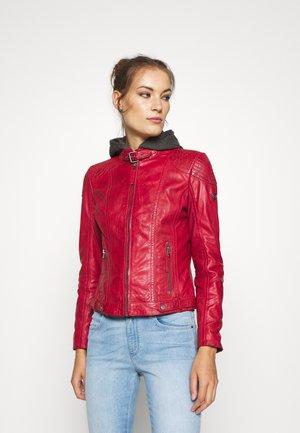 CACEY - Veste en cuir - red