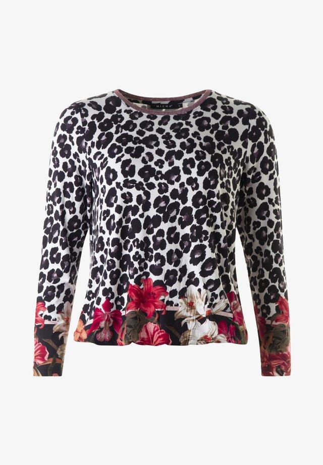 Långärmad tröja - 49599 leo/flower/ print 20.3