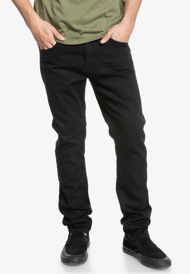 Straight leg jeans - black black