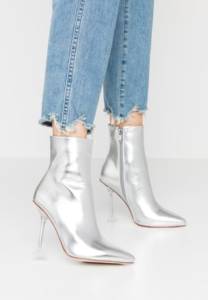 WINONA - High heeled ankle boots - silver