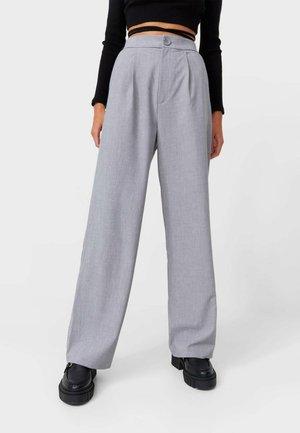 WIDE LEG HOSE - Spodnie materiałowe - grey