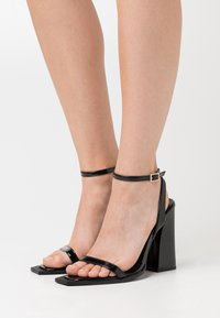 RAID - RIMAYA - High heeled sandals - black crinkle - 0
