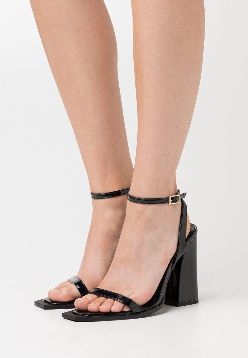 RAID - RIMAYA - High heeled sandals - black crinkle