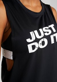 Nike Performance - MARBLE LOOSE TANK - Funktionstrøjer - black/white - 6