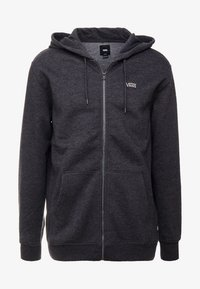 Vans - BASIC ZIP HOODIE - Felpa aperta - black heather - 3