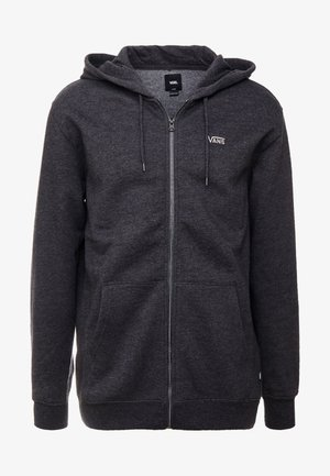 BASIC ZIP HOODIE - Felpa aperta - black heather