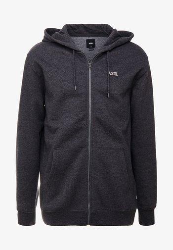 MN BASIC ZIP HOODIE - Zip-up sweatshirt - black heather