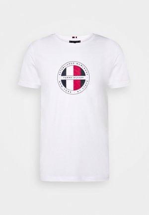 CIRCULAR LOGO  - T-shirt z nadrukiem - white