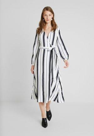 MIDI WRAP DRESS - Maxi dress - birght white/blue/black