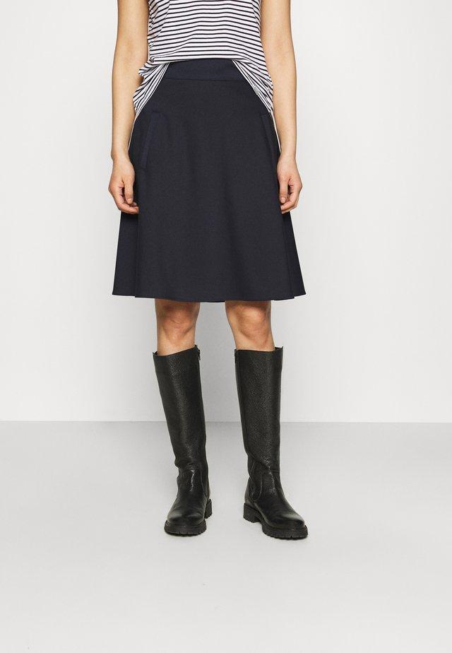 STRETCH STELLY - Áčková sukně - navy