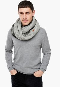 s.Oliver - Snood - grey check - 1