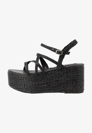 NALIA - High heeled sandals - black