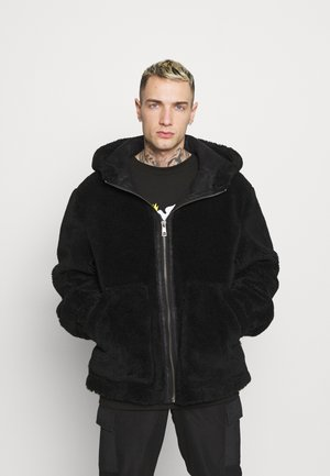 HOODED - Summer jacket - black