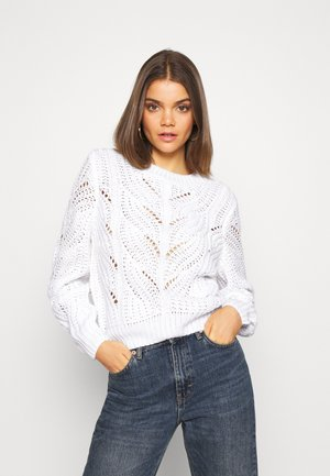 PCRACHEL O NECK - Sweter - cloud dancer