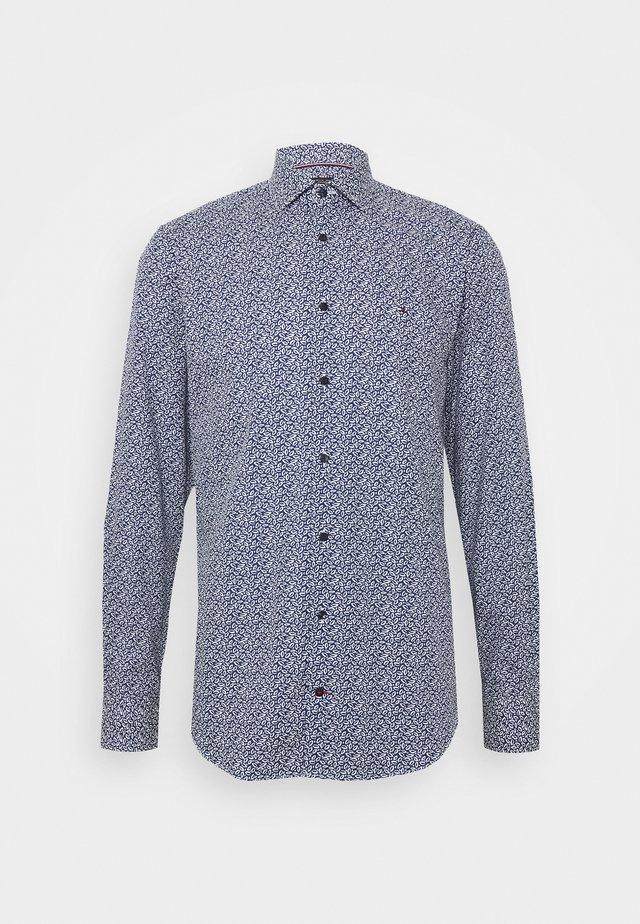 LEAVE PRINT CLASSIC SLIM SHIRT - Hemd - blue