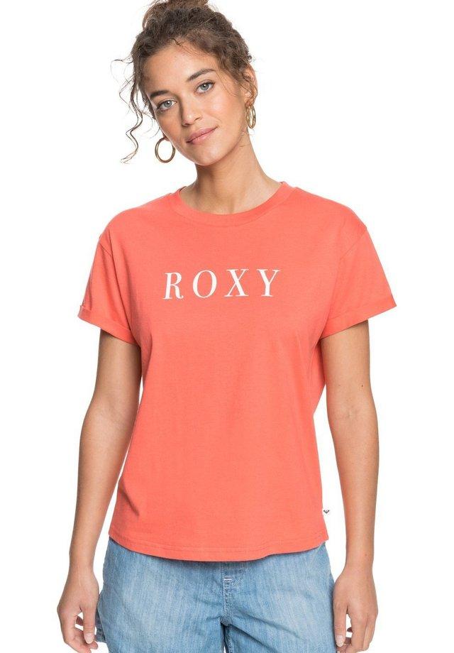 EPIC AFTERNOON WORD - T-shirt imprimé - deep sea coral