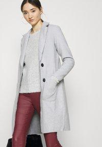 JDY - JDYBONDY - Classic coat - light grey melange - 4