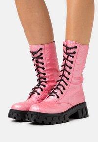 Koi Footwear - VEGAN FONTAINE - Platform boots - pink - 0
