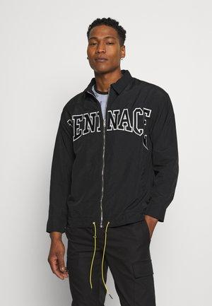 MENNACE ZIP UP COACH JACKET - Summer jacket - black