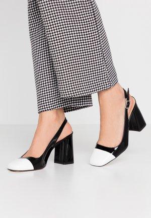 High heels - nero/bianco