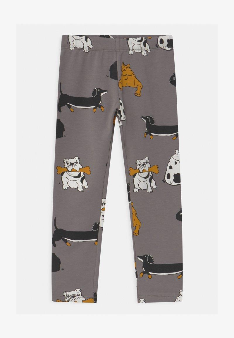 Lindex - AUTHENTIC DOG UNISEX - Leggings - Trousers - grey