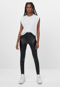Bershka - Leggings - black - 1