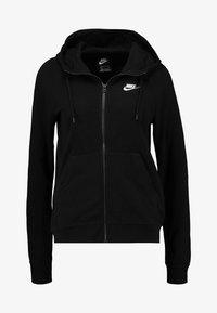 HOODIE - Zip-up sweatshirt - black/white
