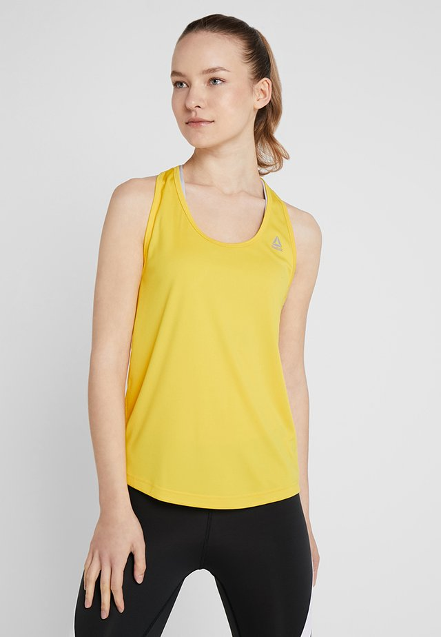 TRAINING PERFORMANCE MESH TANKTOP - Sports shirt - neon yellow