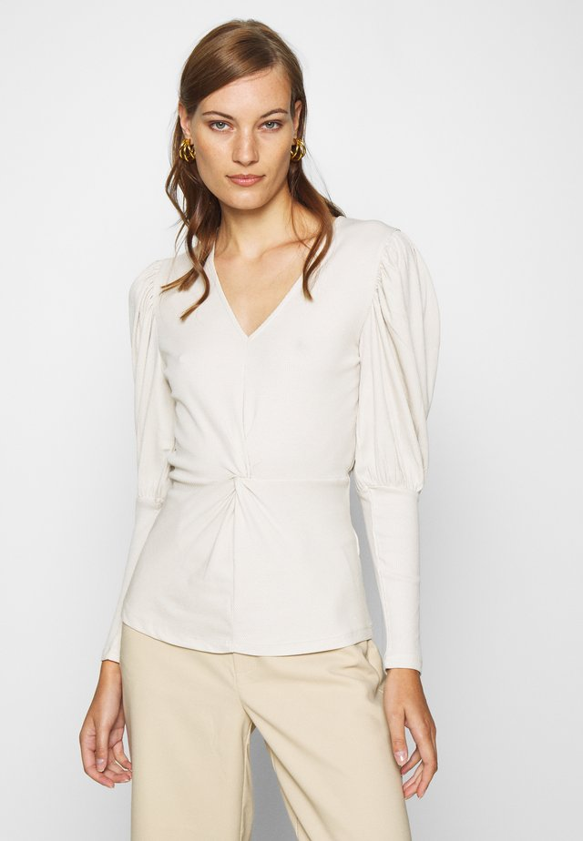 ALLISONLN KNOT BLOUSE - Topper langermet - rainy day