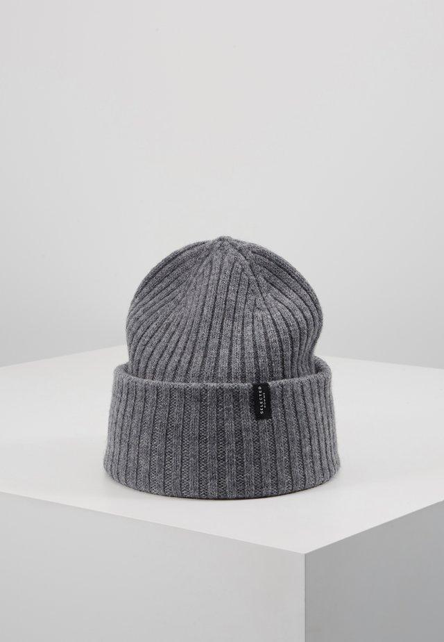 SLHMERINO - Beanie - medium grey melange