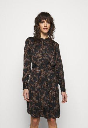TREE DRESS - Shirt dress - black