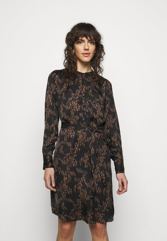 TREE DRESS - Shirt dress - black
