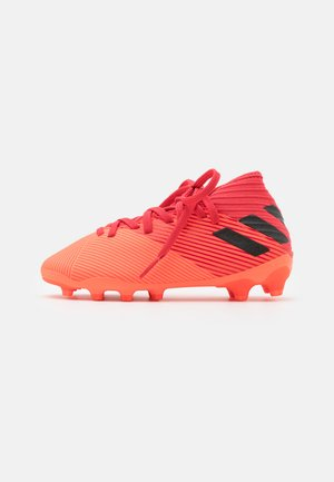 NEMEZIZ 19.3 FOOTBALL BOOTS MULTI GROUND UNISEX - Moulded stud football boots - signal coral/core black/glow red