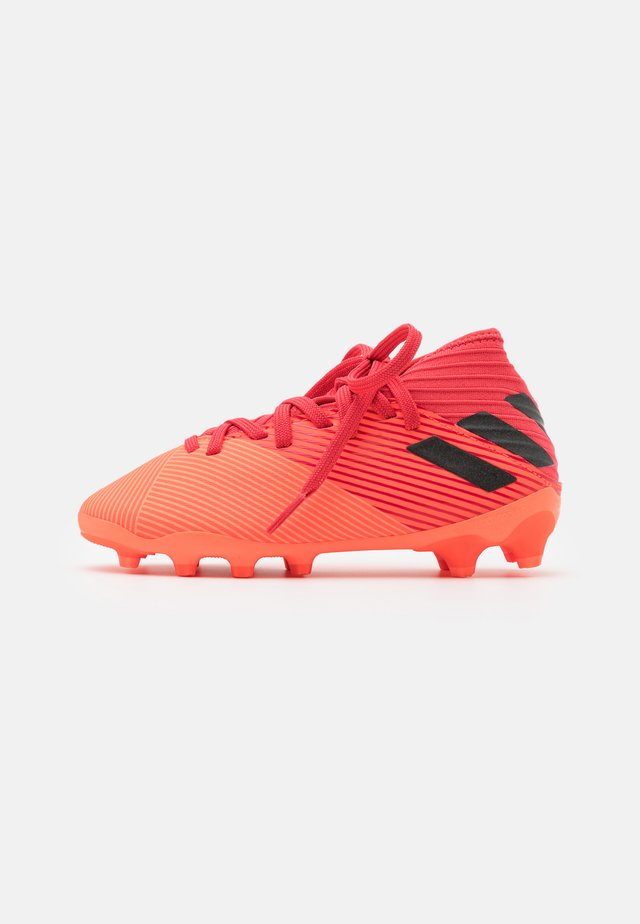 NEMEZIZ 19.3 FOOTBALL BOOTS MULTI GROUND UNISEX - Chaussures de foot à crampons - signal coral/core black/glow red