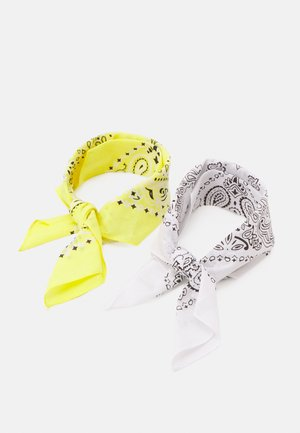 BANDANA UNISEX 2 PACK - Huivi - white/yellow