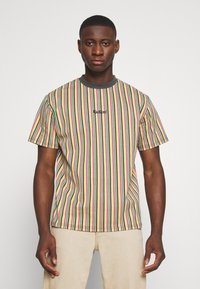 Kickers Classics - VERTICAL STRIPE TEE - T-shirt con stampa - yellow/green/pink - 0
