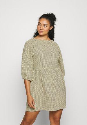 CHECK PUFF SLEEVE DRESS - Vestito estivo - green