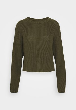 CROPPED JUMPER - Maglione - olive night