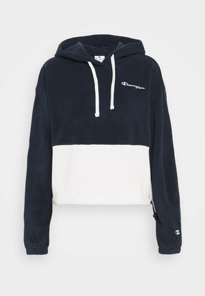 HOODED - Fleece jumper - navy