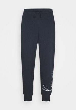 SIGNATURE  - Tracksuit bottoms - navy