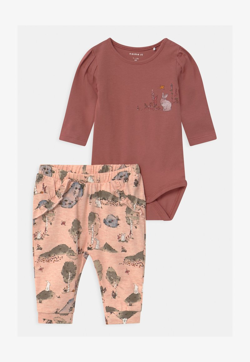 Name it - NBFTHORID SET - Trousers - withered rose