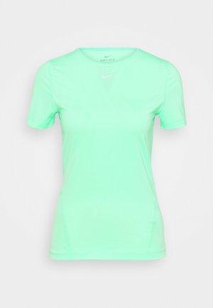 ALL OVER - T-paita - green glow/white