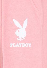 Missguided Petite - PLAYBOY LOGO WIDE LEG - Trainingsbroek - pink - 2