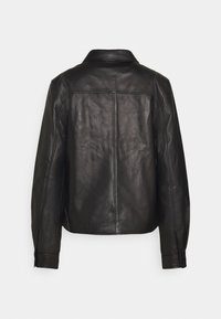 Proenza Schouler White Label - LIGHTWEIGHT COLLARED JACKET - Kožená bunda - black - 1