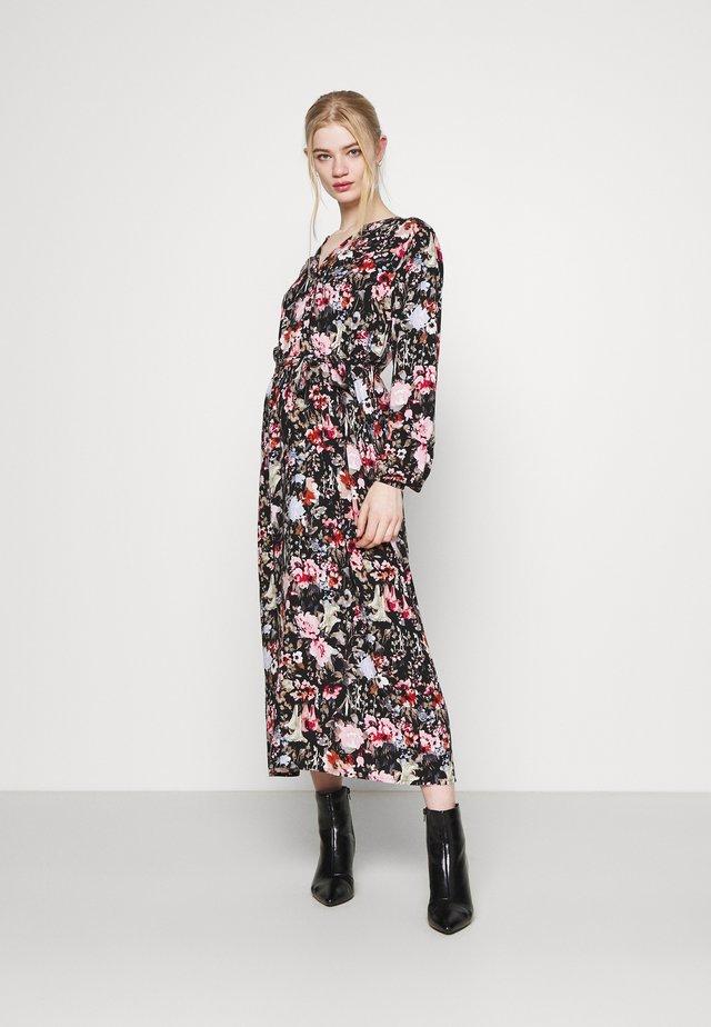 ONLDANIELLA CALF DRESS  - Shirt dress - black