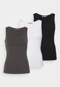 Anna Field Petite - 3 PACK - Top - black/white/mottled grey - 0