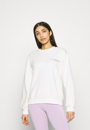 QUOTE PRINTED - Sweater - beige