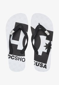 DC Shoes - SPRAY GRAFFIK - T-bar sandals - white black monogram - 0